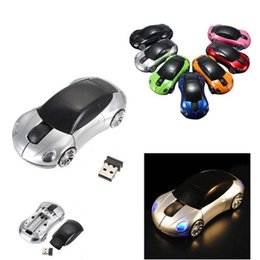 Wholesale Wireless 3d Optical Mouse - Fashion 2.4GHz 3D Optical Wireless Mouse Mice Car Shape Receiver USB Mini Mice For PC Laptop