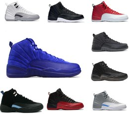 Wholesale Red Light Taxi - Air retro 12 high quality Basketball Shoes , taxi playoffs Gamma Blue black sport Retro 12s Sneakers shoe
