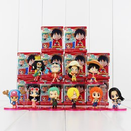 Wholesale Action Figures One Piece Chopper - One Piece Luffy Nami Robin Chopper Sanji PVC Action Figure Collectable Model Toy for kids gift free shipping retail