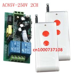 Wholesale Off Momentary - AC110V 85V-250V 2CH RF wireless remote control switch system(2 transmitter1receiver) 10A Toggle Momentary wireless switch ON OFF