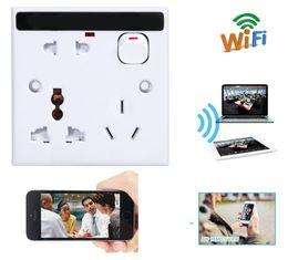 Wholesale Power Adapter Hidden Camera - 16GB Memory Built-in WiFi Spy Socket Camera Hidden Wall Socket Camera 1080P HD Wireless AC Power Adapter Charger socket Cam PQ245