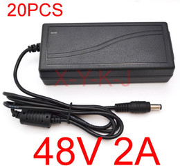 Wholesale Poe Powered - 20pcs High Quality IC solutions AC DC 48V 2A 96W Switching Power supply Adapter Desktop Replacement 48V POE Charger Express +Free shipping