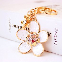 Wholesale Beautiful Grils - Beautiful Floral Pendant Keychains For Grils 2017 New Arrival Fashion Key Accessories Keyrings For Car Key Chains Wholesale