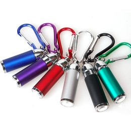 Wholesale Telescopic Lover - DHL 600PCS Fashion LED Flashlight Keychain Flashlight Telescopic Outdoors Sport Mountaineering Buckle Colorful Keyring LED Lumen Torch