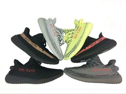 Wholesale Fall Big - Sply 350 V2 Big Size 36-47 48,us12,us13 Core Black Pink Boost With Box Keychain Socks Glow Kanye West Running Shoes
