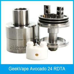 Dobradiças on-line-GeekVape Abacate 24 RDTA Atomizador 5ml Abacate 24 Tanque com deck Velocity com sistema de bloqueio de dobradiça 100% Original