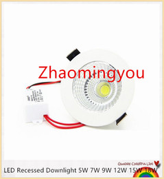 Wholesale Patent Control - Patent product Dimmable LED Recessed Downlight 5W 7W 9W 12W 15W 18W COB Chip LED Ceiling Spot Light Lamp White  Warm white