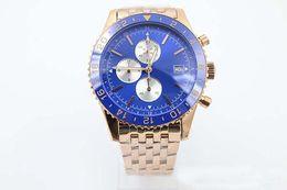 Wholesale Japan Quartz Watch Swiss - Luxury swiss brand high quality floding Mens blue Dial Japan Chronograph Sport Wrist Supersports ISR Men's Watches FLYING B Motors WatchStai