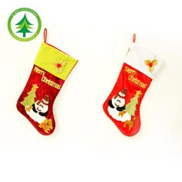 Wholesale Tapestry Bags Wholesale - Christmas Theme Stocking Sock Sack Gift Bag 48*26CM Tapestry wholesale vip price forlarge order Xmas hanging decoration for children