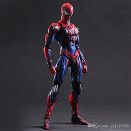 jouet à araignée Promotion Red Spider-Man, Joint Movable, Anime Frontline Toy Boxed Model Hand-made Spider-Man Hand Spider-Man