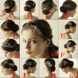 Wholesale Cheap Round Pearl Beads - gold bridal tiara hair accessories new arrival cheap headpieces crystal beads with rhinestones bridal headbands free shipping