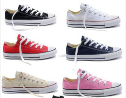Wholesale ocean white - 2017 New star big Size 35-46 Casual Shoes Low top Style sports stars chuck Classic Canvas Shoe Sneakers Men's Women's Canvas Shoes