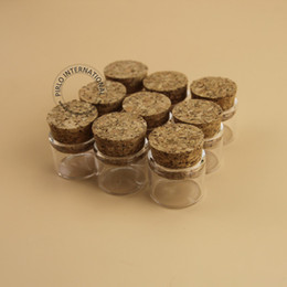 Wholesale Tube Glass Bottle Cork - 5g Mini small glass bottles vials jars with corks stoppers decorative corked glass test tube 5ml bottle with cork