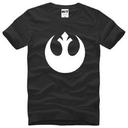 Wholesale Silver Star Tees - New Designer Star Wars Rebel Alliance Logo T Shirts Men Cotton Short Sleeve O-Neck Printed Man T Shirt Fashion Moive Top Tee