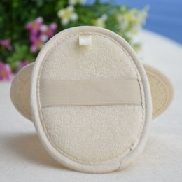 Wholesale Pad 11 - 11*16cm natural loofah bath scrubber remove the dead skin loofah pad sponge for home or hotel wen4516