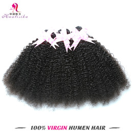 Wholesale Cheap Quality Braid - Afro Curl Mongolian Hair Cheap Price But Quality Human Hair Double Weft Extensions Braiding Virgin Remy Dyeable Hair Free Shiping