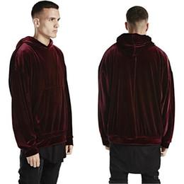 Wholesale Hba Mens Clothing - Wholesale-New winter men hip hop kanye west style velour hoodie mens hip hop hba pullover sweatshirt tyga swag clothing chandal hombre