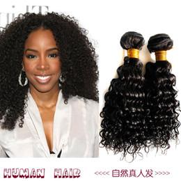 Wholesale Deep Wave Synthetic Weave - Brazilian deep wave human hair weave Virgin Brazilian Human Hair Malaysian Peruvian Mongolian Cambodian Indian Unprocessed human hair H011