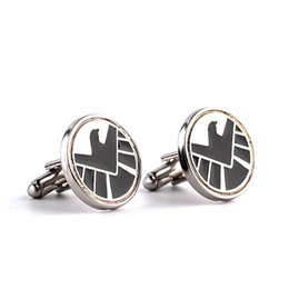Wholesale French Board - 2016 black Aegis Board charm cufflinks upscale men's cufflinks French shirt cuff nail fashion simple noble atmosphere cuffs zj-0903658