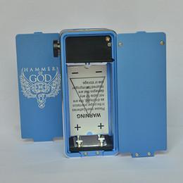 god mod box Sconti 2016 Hammer of God 2 Box Mod Tubo quadrato in metallo adatto 4pcs 18650 Batteria 510 RDA Atomizzatore con LED Display a tensione di vapore meccanico
