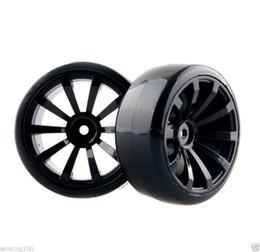 Wholesale Rc Car Rims Drift - RC HSP 601-6015 Hard Drift Tires & Plastic Wheel Rim For 1:10 On-Road Drift Car