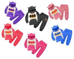 Wholesale Girls Pants Purple - Autumn winter kids clothing set kids boys girls clothing set children hoodies+ pants 2 pieces 6 s l