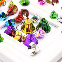 Wholesale Christmas Bell Crafts - Wholesale- 20PCS Colorful Metal Jingle Bells Small Loose Beads Festival Party Decoration Christmas Tree Decorations DIY Crafts Accessories