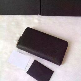 Wholesale High Quality Ladies Leather Wallet - classic high quality real cowhide leather luxury brand zipper wallet for women free shipping