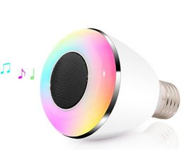 Wholesale Bubble Gun Wholesalers - BL08A Bluetooth Speaker Ball Bubble Lamp intelligent wireless Bluetooth bulb LED music bass gun color COOL Gift LED light