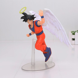 qualidade de brinquedos de fazenda animal Desconto Dragon Ball Son Goku PVC Figuras de Ação SHOWCASE DRAMÁTICA Anjo Goku Dragon Ball Z Modelo Toy Boneca Figuras DBZ Goku