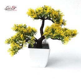 Wholesale Pine Flowers - Welcoming Pines Artificial Flower Tree Artificial Plant Bonsai Green Plants For Decorative Interior Office