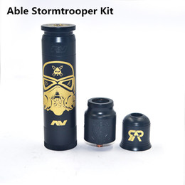 Wholesale Gold Battle - New Able Stormtrooper Mod Kit AV Storm trooper Kit Clone Able Mod Battle RDA and Time Cap 18650 Mod E-cigarette Kit DHL Free