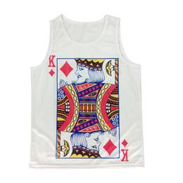 Wholesale Sexy Poker - Wholesale- HOT!! 2015 New Men's Poker K 3D Print Sleeveless Tank Tops Fashion Summer 3D T Shirt Casual Plus Size Vest Jersey Men