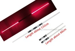Wholesale 2 Star Wars Lightsaber Led Flashing Light Sword Toys Cosplay Weapons Can Mutual percussion Sabers for boys Action