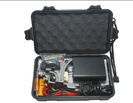 Wholesale Permanent Piercings - Tattoo Kit Professional with Best Quality Permanent Makeup Machine For Tattoo Equipment Cheap Black Tattoo Machines Kit Piercing
