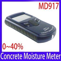 Wholesale Concrete Moisture - Wholesale-Portable digital Concrete wall moisture meter MD917 range 0~40% 5pcs lot free shipping
