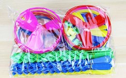 Wholesale Ufo Disc - Children Flying Toys Hand Pushing UFO Bamboo dragonfly Toy Flying Disc Outdoor sports Toys for kids