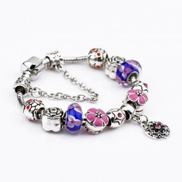 Wholesale Dora Sets - Hug Me Women Beaded Strands Jewelry Big hole Beaded Bracelet Panpe Dora glass bead jewelry boutique explosion BB-1041