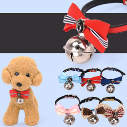 Wholesale Big Dogs Collars - Hot Sale Dog Collar Pets Supplies Big Bell Bowknot Cute Collars Necklace Perfect For Cats Dogs Decoration Accessories S L Sizes Available Ed