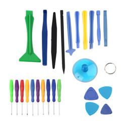 Wholesale Cellphone Tools - Universal 25pcs set 25 in 1 Mobile Cellphone Opening Repair Pry Tool Kit Screwdrivers Sucker for iPhone iPad PSP PS4 Samsung