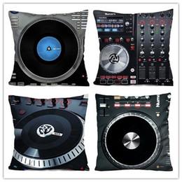 Wholesale Music Pillow Cases - Wholesale- Pillow Case DIY Custom NUMARK DJ MUSIC CONTROL Throw PillowCase Cushion Zippered Cover Soft Flannel Zipperer Square Throw Pillo