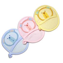 Wholesale Baby Bath Mitts - 2016 New 3 Styles Zoo Design Soft Baby Bath Brush Cotton Newborn Baby Wash Mitt Free Shipping Washcloths & Wash Gloves