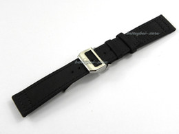 Wholesale 18mm nylon band - 22mm(18mm clasp) hot sell free shipping strap green or black Nylon+ leather band buckle deployment clasp watchband
