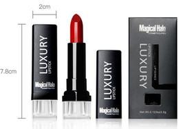 lápiz labial halo mágico Rebajas Lápiz labial mate de terciopelo Brillo de labios de larga duración Maquillaje de labios 23 colores 3.5g Envío gratuito de DHL Pintalabios de halo mágico de lujo
