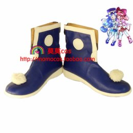 Wholesale Blue Wonder Blueing - Wholesale-Twin Princesses of the Wonder Planet Rein blue ver cos Cosplay Shoes Boots shoe boot #JZ192 anime Halloween Christmas