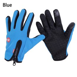 Wholesale Men Glove Wholesale - New Touch Screen Windproof Waterproof Outdoor Sport Gloves Men Women Winter Work Cycling Ski Warm gloves JS-G01