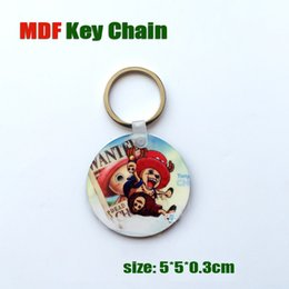 Wholesale Steel Key Blanks - Fashion New Design Sublimation MDF Key Chains White Blank Wooden Key Rings as Gift for Friends and Company Promition