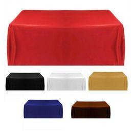 Toalha de mesa ao ar livre on-line-Toalha de mesa Toalha De Mesa Para Banquete Festa de Casamento Decoração de Casa Toalha De Mesa Toalha De Mesa De Casamento Longo Ao Ar Livre Banquete Decoração de Casamento