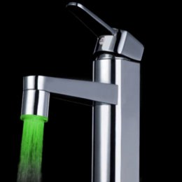 Wholesale Cheap Abs Sensor - Three-Colored Temperature Sensor Spray LED Water Faucet Tap Cheap tap water High Quality faucet led