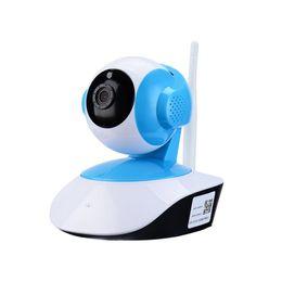 2019 micrófonos para cámaras Sistema inalámbrico de la cámara de seguridad de 720P WiFi HD Pan Tilt IP Vigilancia de la red Webcam Baby Monitor, audio, microphon incorporado micrófonos para cámaras baratos